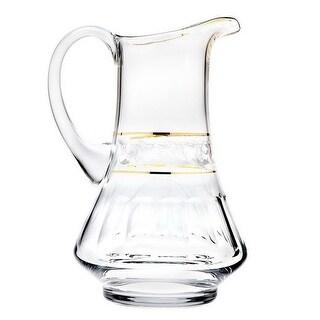 Godinger 44926 51 oz Somerset Gold Band Pitcher Glass