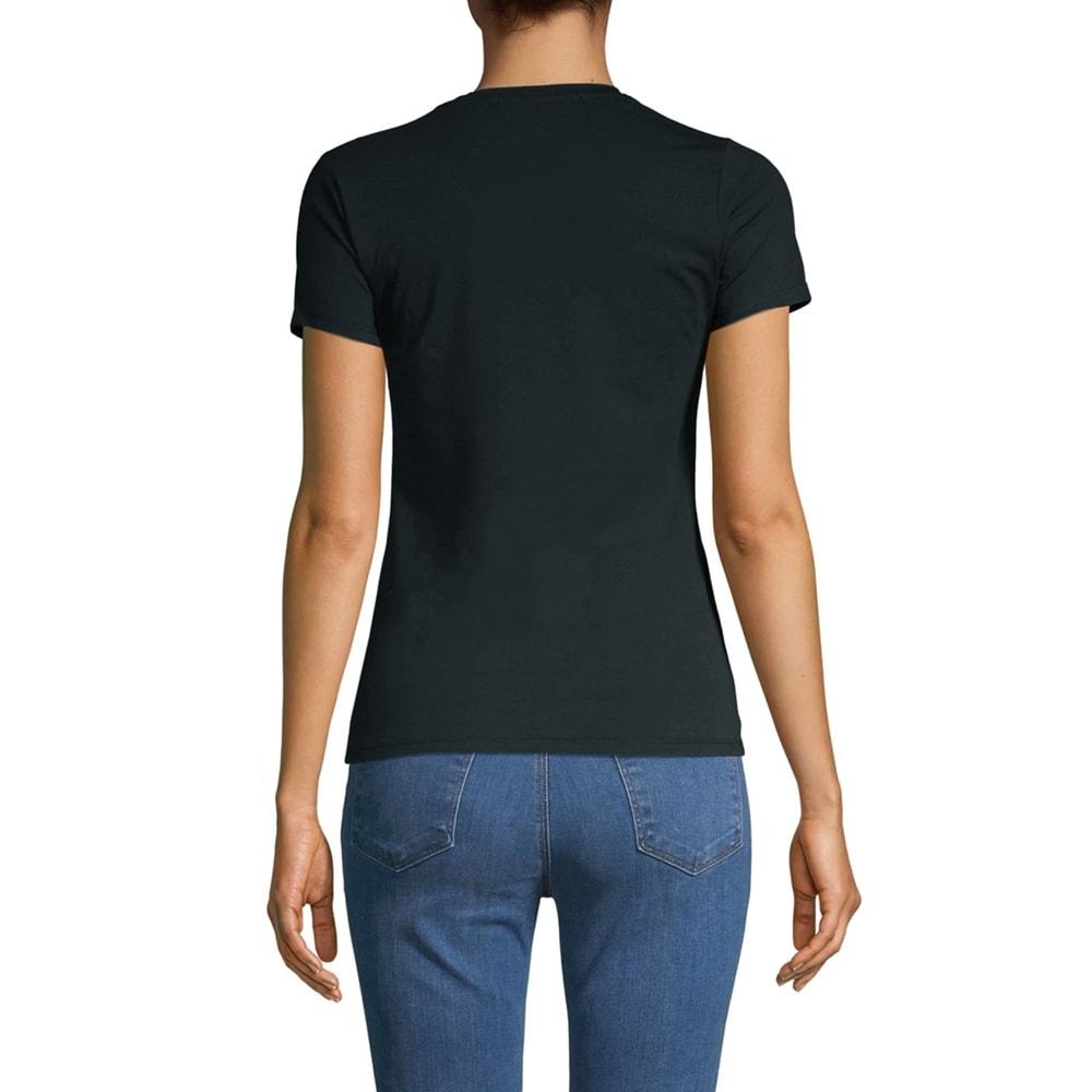 Cavallo Ladies NAMIA Short Sleeve Branded Round Neck T-Shirt Dark Blue//White