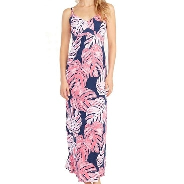 0827b0696cc Shop Tommy Bahama NEW Pink Navy Womens Size XS Empire Waist Maxi Dress - Free  Shipping On Orders Over  45 - Overstock - 18618969