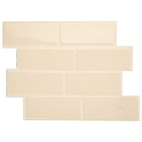 Smart Tiles Self Adhesive Wall Tiles - Metro Gallino - 4 Sheets of 11.56'' x 8.38'' Kitchen and Bathroom Stick on Tiles