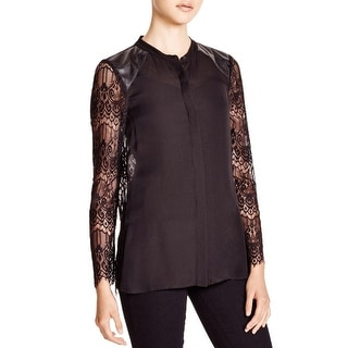 Chelsea & Walker Womens Blouse Lace Back Silk
