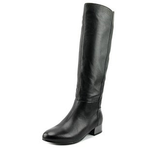 Aldo Sicignano Round Toe Leather Knee High Boot