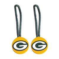 Green Bay Packers Zipper Pull Charm Tag Set Luggage Pet ID NFL
