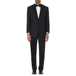 Ralph Lauren Black Wool Tuxedo 36 Short 36S Pants 29W Made In Italy