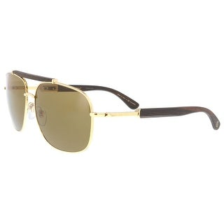 Bulgari BV5040K 393/83 Gold Rectangular Sunglasses - no size