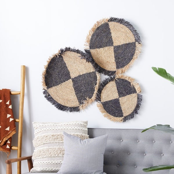 Brown Wood Natural Wall Decor (Set of 3) - 29 x 2 x 29. Opens flyout.