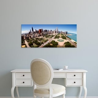 Easy Art Prints Panoramic Images's 'Aerial Grant Park Chicago IL' Premium Canvas Art