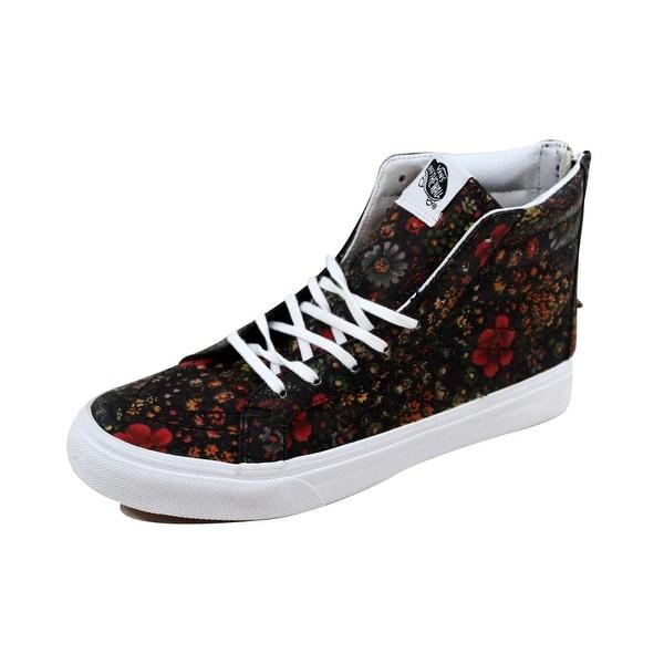 c3df5843250337 Vans Men  x27 s SK8 Hi Slim Zip Floral Leather Multi Color nan VN000XH8JR1