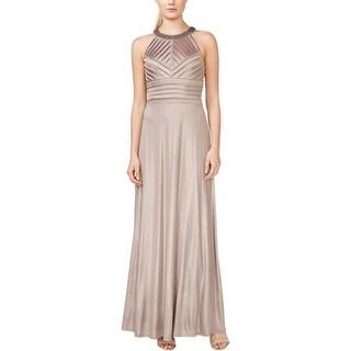 Calvin Klein Womens Evening Dress Embellished Pintuck