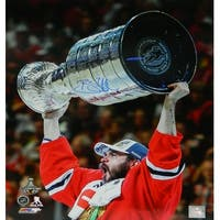 Brent Seabrook Chicago Blackhawks 2015 Stanley Cup Trophy 16x20 Photo