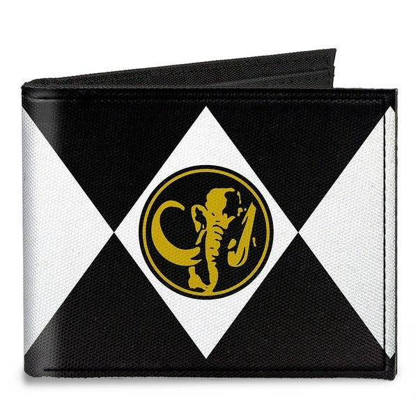 Diamond Black Ranger Mastodon Power Logo Canvas Bi Fold Wallet One Size - One Size Fits most
