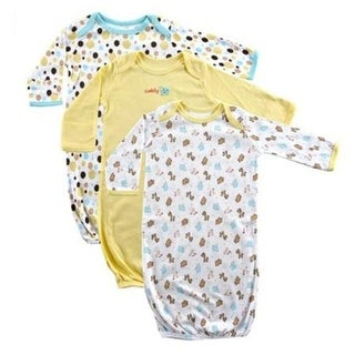 Luvable Friends Unisex 0-6 Months Gown - 3 Pack