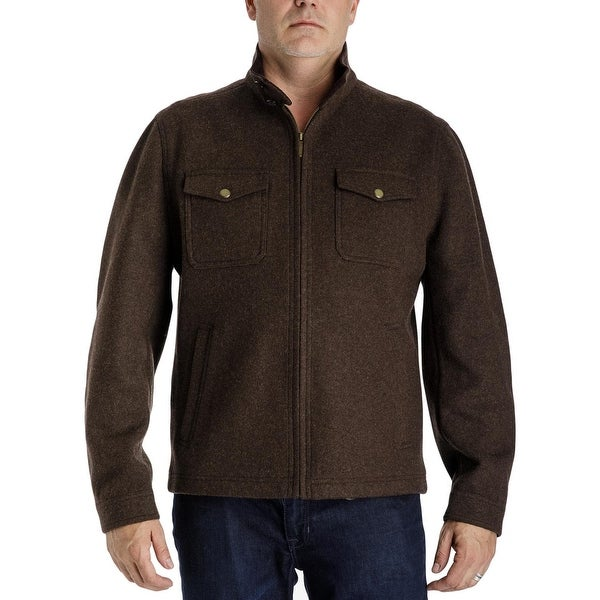 556e171a9685 Shop London Fog Mens Big   Tall Shirt Jacket Spring Wool - 2XLT - On Sale -  Free Shipping Today - Overstock - 26430131