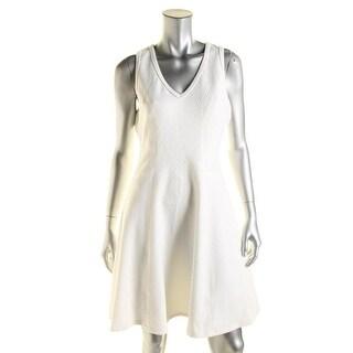 Karen Kane Womens Aquarius Jacquard Knit Wear to Work Dress - L