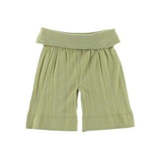 Catherine Malandrino Womens Pointelle Fold-Over Casual Shorts - S
