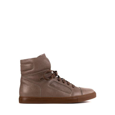 Brunello Cucinelli Men's Brown Leather High Top Sneakers IT41/US8~RTL$1495