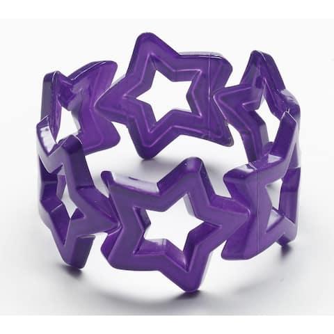 Club Candy Star Bangle Costume Bracelet: Purple