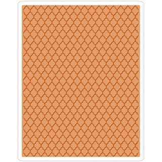 Sizzix Texture Fades A2 Embossing Folder-Trellis By Tim Holtz - trellis by tim holtz