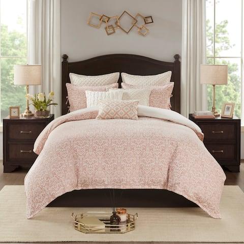 Madison Park Signature Haven Blush Chenille Jacquard Comforter Set