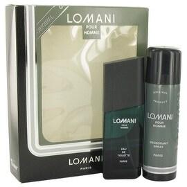 LOMANI by Lomani Gift Set -- 3.4 oz Eau De Toilette Spray + 6.7 oz Deodorant Spray - Men