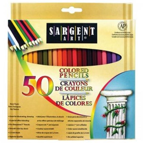 Sargent Art SAR227251BN Colored Pencils, 50 Per Pack - Box of 3