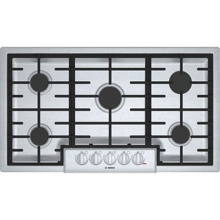 """Bosch NGM8656UC 800 Series 36"""" Wide Built-In Gas Cooktop with 5 Sealed Burners and a 19000 Power Burner - Stainless Steel - N/A"""