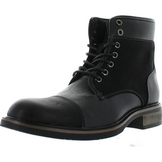 Arider Albert-03 Mens Lace Up Boots With Toe Cap Finish Black