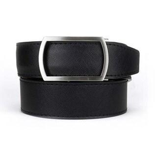 Nexbelt Classic Series Midnight Raven Leather Strap Dress Belt