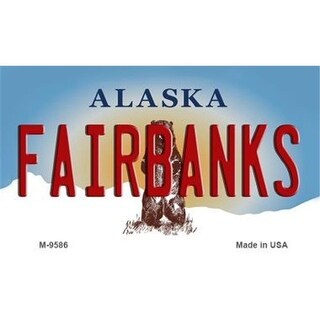 Smart Blonde Fairbanks Alaska State Background Novelty Metal Magnet