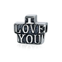 f2c201e7c I Love You Word Charm Bead For Women Girlfriend For Teens 925 Sterling  Silver Fits European