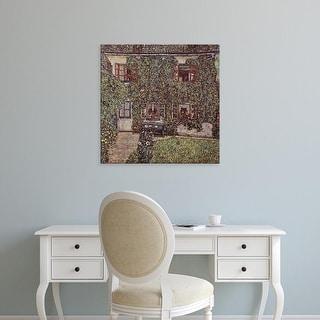Easy Art Prints Gustav Klimt's 'The Forester's Lodge' Premium Canvas Art