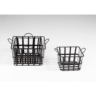 "Cyan Design 4715 16.5"" Wire Grocery Basket"