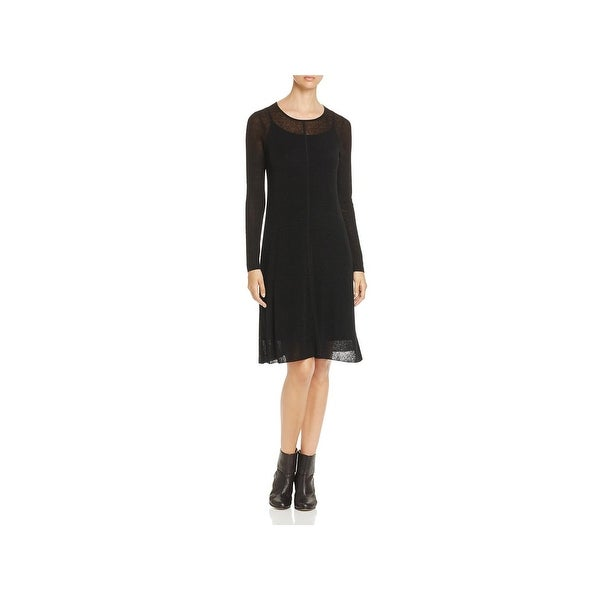 1e00476402 Shop Eileen Fisher Womens Sweaterdress Linen Sheer - Free Shipping ...