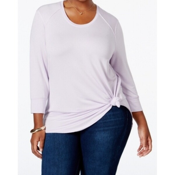 cf840e4b0 Shop Melissa McCarthy Seven7 NEW Purple Womens Size 2X Plus Hi-Low Tunic  Top - Free Shipping On Orders Over $45 - Overstock - 18319234