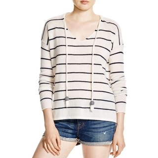 Moon & Meadow Womens V-Neck Sweater Cashmere Striped