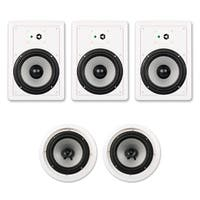 """Acoustic Audio CHT-825 1500W Wall / Ceiling 8"""" Home Theater 5.1 Speaker System"""