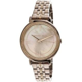 Michael Kors Women's Cinthia MK3737 Brown Stainless-Steel Fashion Watch