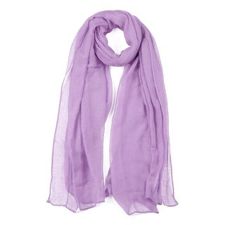 Link to Long Warm Shawl Large Soft Solid Color Scarf for Women Men -2 - Light Purple Similar Items in Scarves & Wraps
