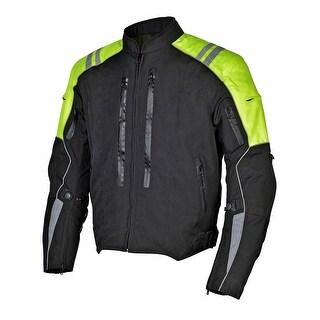 Men Motorcycle Textile Waterproof Windproof Jacket Yellow mbj069-1