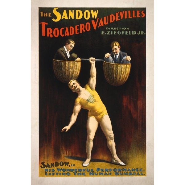 Sandow Trocadero Vaudeville Lifting - Vintage Ad (Light Switchplate Cover)
