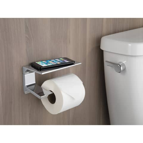 Delta Pivotal Tissue Holder with Shelf (79956) - Chrome