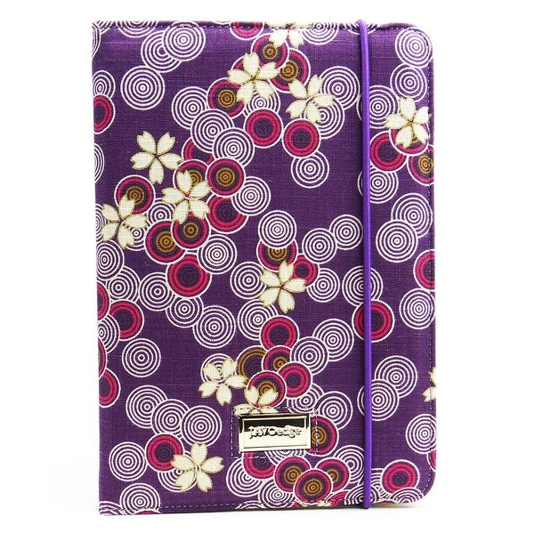 JAVOedge Cherry Blossom Folio Case for the Apple iPad Mini (Twilight Purple)