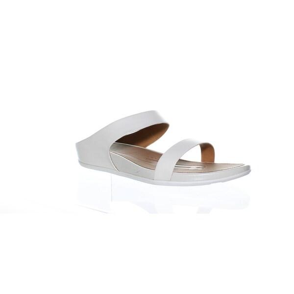 5a46abf62e0d Shop FitFlop Womens Banda Slide Urban White Slides Size 10 - On Sale ...