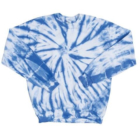 Dyenomite Tie-Dye Sweatshirt - Bright Colors Crewneck Long Sleeves