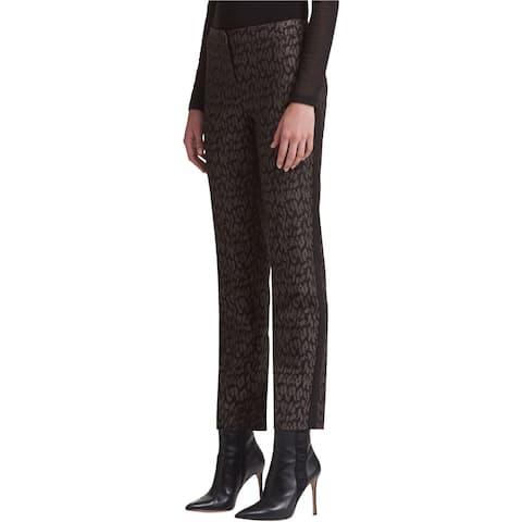 DKNY Womens Combo Fab Casual Trouser Pants, Black, 0