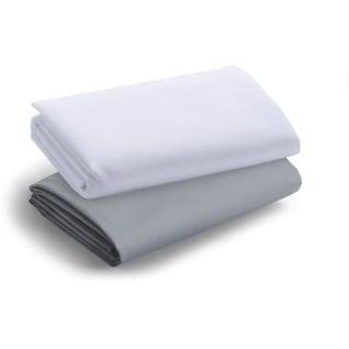 Graco Travel Lite Crib Sheets - 2 Pack - Quarry Bright White Crib Sheet