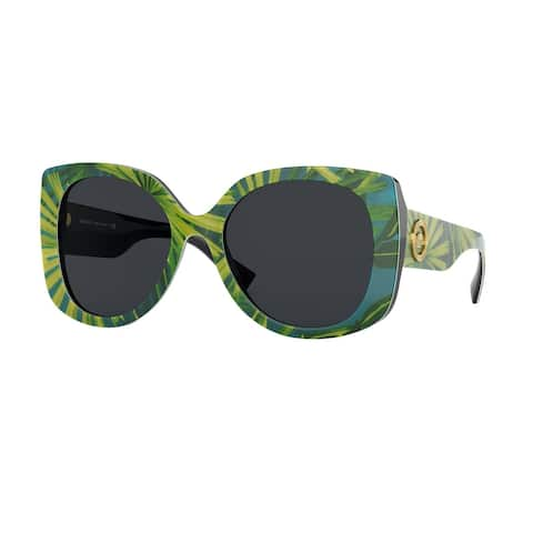 Versase VE4387F 533687 56 Print Palms Woman Rectangle Sunglasses