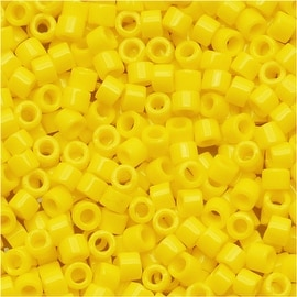 Miyuki Delica Seed Beads 11/0 Opaque Yellow DB721 7.2 Grams
