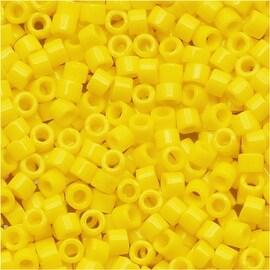 Miyuki Delica Seed Beads 11/0 Opaque Yellow DB721 7.2 Grams