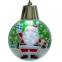 LED Santa with Snowflakes Ornament